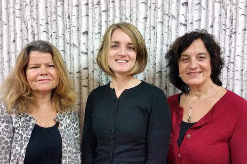Agneta Krohn, Emma Söderholm och Stina Ekmark är lärare på Myrsjöskolan i Nacka kommun.