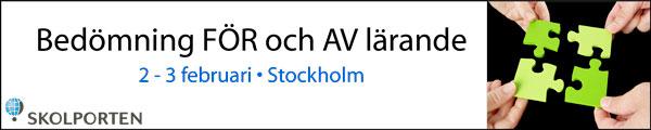 ANNONS: Bedömning för och av lärande - konferens i Stockholm!