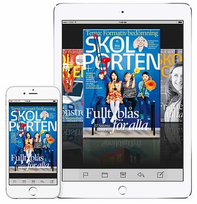 Så läser du Skolportens magasin digitalt