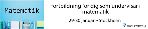 Skolportens konferens matematik 29-30 januari