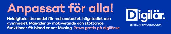 Annons: Digilär - digitalt läromedel för alla skolformer från Natur & Kultur